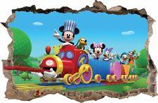 WANDAUFKLEBER Loch in der Wand 3D Mickey Donald Disney Aufkleber Wandtattoo 56