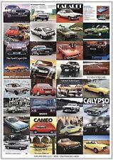 FORD CAPRI Mk 1 2 & 3 - Retro Art Print - Turbo 2.8i Cabaret 280 Tickford Ghia +