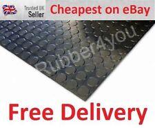 Superior Black ROUND STUDDED Garage Van Shed Rubber Flooring Matting 1.5m x 3mm