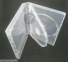 5 x 3 Way DVD Case Super Clear da 27 mm SPINE-Pellicola GIOCO BLU RAY DVD Con Manica