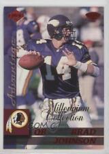 1999 Collector's Edge Advantage Millenium Collection Red #90 Brad Johnson Card