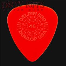 Dunlop Delrin Prime Grip Guitar Picks Plectrums 0.46mm Red - 1 to 24 Picks
