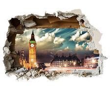 Londres big ben mur fracasser scenic autocollant mural