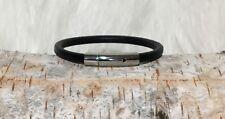 Echtlederarmband Hebeldruckverschluss Edelstahl ca 5 mm, 18 cm - 24 cm
