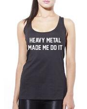 Heavy Metal Made Me Do It - Rocker Rocker Band Womens Vest Tank Top