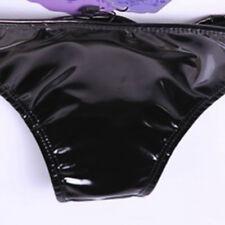 Women Spandex Latex Briefs Thong Underwear Sexy Mini Panties Knickers G-string