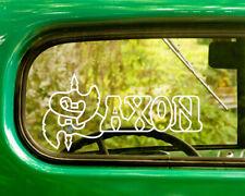 2 SAXON BAND DECALs Stickers Bogo For Car Truck Window Bumper Laptop
