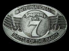 MJ19170 **SEAGRAM'S 7 INTERNATIONAL BATTLE OF THE BANDS** BOOZE BELT BUCKLE