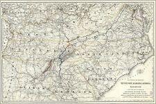 Affiche, Plusieurs Tailles; Carte Tennessee Alabama Georgia Chemin de Fer 1892