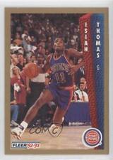 1992-93 Fleer Drake's #15 Isiah Thomas Detroit Pistons Basketball Card