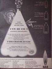 PUBLICITÉ 1959 GAZ CONSTRUCTEURS APPAREIL PRODUCTION D'EAU CHAUDE