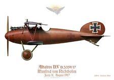 Print Albatros D.V, Manfred von Richtofen, Jasta 11, 1917 (by D. Douglass)