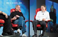 Tech. Giants war Gates Vs. Jobs poster print