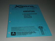 Werkstatthandbuch Citroen Xsara Ausstattung Airbag St. 09/1997