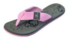 MADSea Damen Zehenstegpantolette Beach Woman - grau/rosa mit rutschfester Sohle