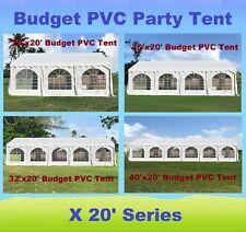 20'x20', 26'x20', 32'x20', 40'x20' Budget PVC Party Wedding Tent Shelter Canopy