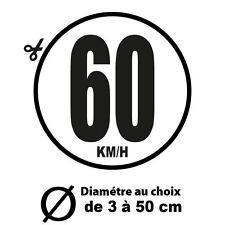 60 KM/H LIMITATION VITESSE BUS TRACTEUR POIDS LOURD ADHÉSIFS AUTOCOLLANT STICKER