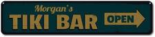 Tiki Bar Sign, Personalized Tiki Bar Arrow Sign, Open Sign, Beach - ENSA1001270