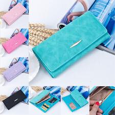 Women Lady Leather Clutch Envelope Wallet Long PU Card Holder Case Purse Handbag