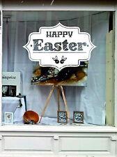 Buona Pasqua Vetrina Display Adesivo al dettaglio Bunny decalcomania in vinile rimovibili