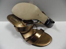 Chaussures PARBIS jaune doré FEMME taille 37 sandales escarpins ouvert été NEUF