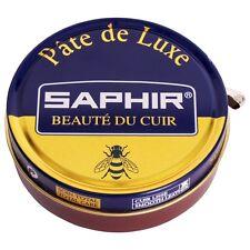 SAPHIR Beaute du Cuir Wax Shoe Polish Leather Boot Paste Shine Pate De Luxe 50ml