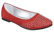Scarpe basse donna scarpe ballerine tessuto sintetico bamboline strass