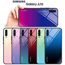 COVER per Samsung Galaxy A70 ORIGINALE Gradient Glass con RETRO VETRO TEMPERATO