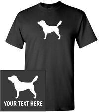 Beagle Silhouette T-Shirt, Men Women Kids Long Tank Personalized Custom Tee dog