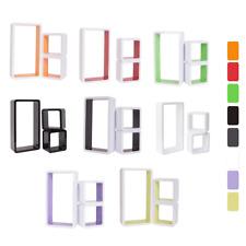 Mobili Rebecca® Set 3 Mensole Pensili Legno 8 Colori Moderno Casa Ufficio