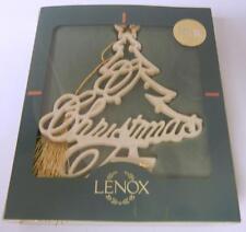 "LENOX PIERCED ORNAMENT CHRISTMAS TREE OLD STOCK MIB 4"" TALL USA Original Box"