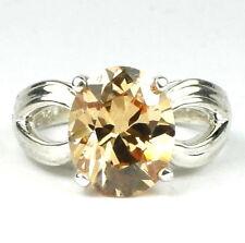 4.5 carat CHAMPAGNE CZ Sterling Silver Ladies Ring -Handmade • SR361