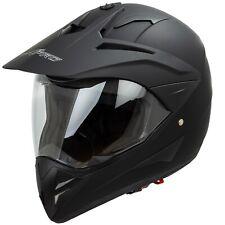Casco Moto Cross Enduro Trial Quad Off Road Visiera Anti Nebbia Nero Opaco