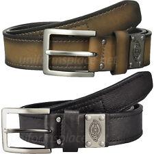 "Dickies Belt Mens 1 3/8"" Industrial Strength Logo Belt 11DI02N9 Black, Brown"