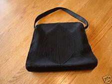 Womens  accessory handbag black with gold tone at top