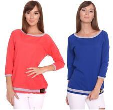Longshirt Shirt 2 Farbig 3/4 Ärmel Gr. 36 38 S M, 1036