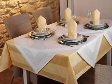 Tischwäsche Damast, Gastronomie Tischdecken mit Atlaskante Sonnengelb
