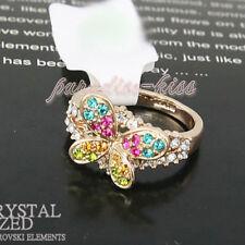 Anello Donna Cristallo Swarovski elements farfalla multicolore N79