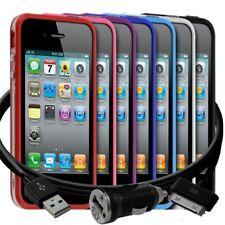 Housse Etui Coque Bumper  pour Apple iPhone 4/4S + chargeur auto + film