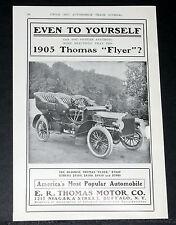 "1905 OLD MAGAZINE PRINT AD, THOMAS ""FLYER"", AMERICA'S MOST POPULAR AUTOMOBILE!"