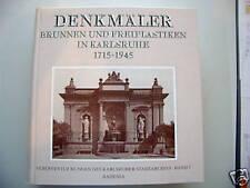 Denkmäler Brunnen Freiplastiken Karlsruhe 1715-1945