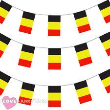 Belgio Bunting 33ft Decorazione Bandiera Europea 20 BANDIERE CALCIO EURO 10 METRI