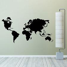 Mapa del mundo pared adhesivo de vinilo el arte de pared calcomanía