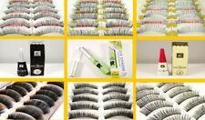 10 Pairs False Fake Eyelashes Lashes Glue Natural Individual Makeup Soft Thick