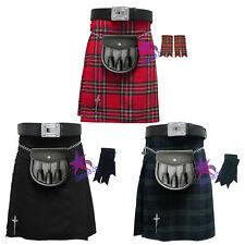 Cc Kilt Scozzese da Uomo Tradizionale Highland Vestito Gonna/kilt Pin/lo Sporran/lampeggiante