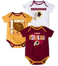 NFL Washington Redskins INFANT 3-Point Spread Bodysuit Set (Set of 3)