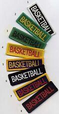 Basketball School Sports Flash Badge Patch 7.3 x 2.3cm