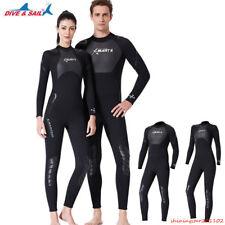 3MM Men Women Black Full Wetsuit Warm Scuba Diving Spearfishing Surfing Wetsuit
