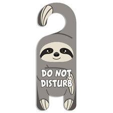 Sloth Do Not Disturb Plastic Door Knob Hanger Warning Room Sign