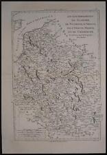 1780 Original Bonne Map of Flanders Flandre Netherlands